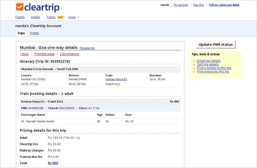 cancel train bookings online immediately process walkthrough