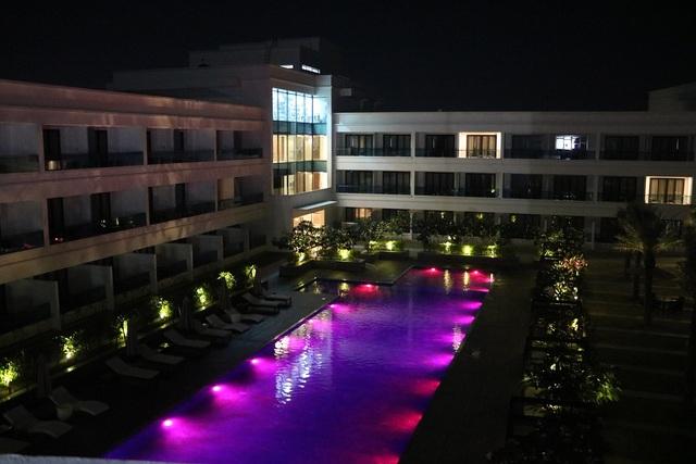 Pool-Side-View-Night