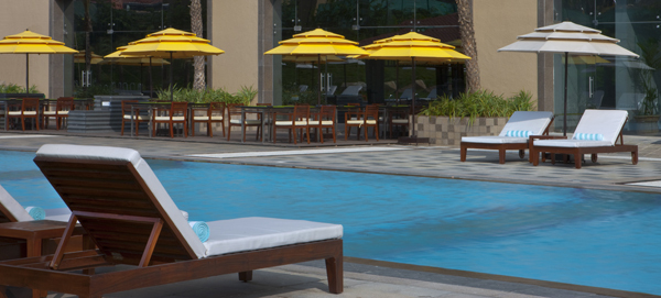 The westin hyderabad mindspace hyderabad use coupon code hotels get 10 off for Resorts with private swimming pool in hyderabad