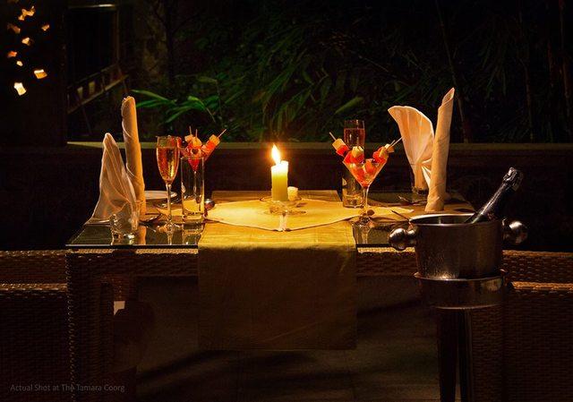 TheTamaraCoorg-Candel-light-dinner