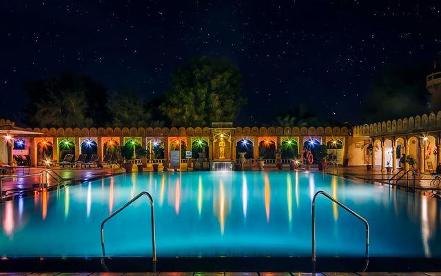 Fort rajwada jaisalmer room rates reviews deals - Jaisalmer hotels with swimming pool ...