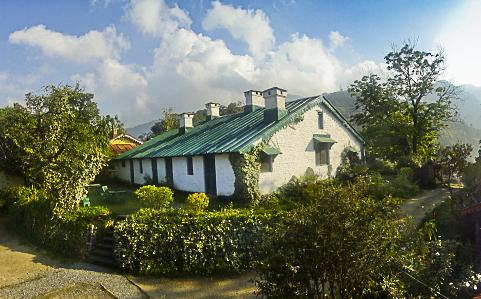 The East Facade Of Ashok Vatika Terrace Gardens Old Bungalow Writers And Its Dining Verandah 0